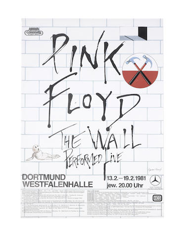 Pink Floyd: A group of concert and other posters