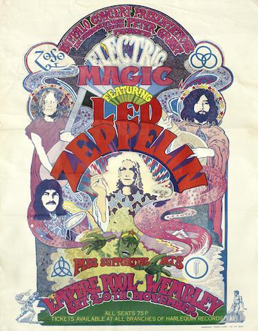 Led Zeppelin: A concert poster, Empire Pool, Wembley