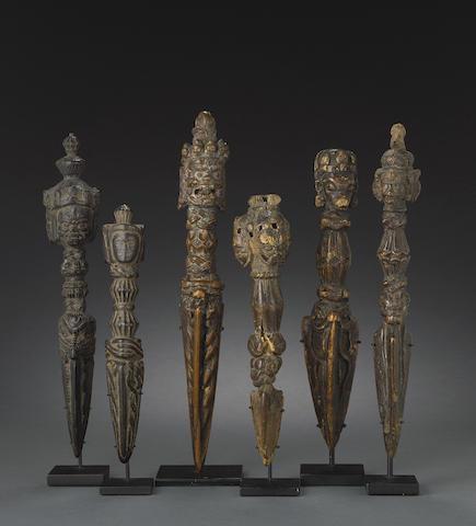 A group of six wood purbhas