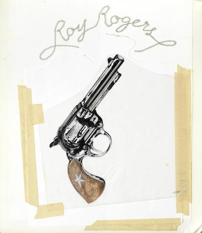 Elton John: The original artwork for the track 'Roy Rogers' on the album 'Goodbye Yellow Brick Road'
