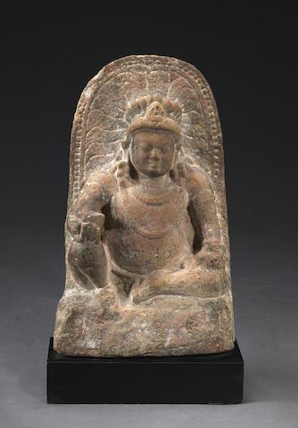 A sandstone figure of Kubera