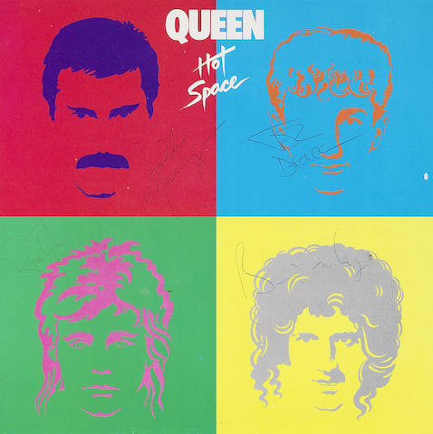 Queen: An autographed copy of the album 'Hot Space'