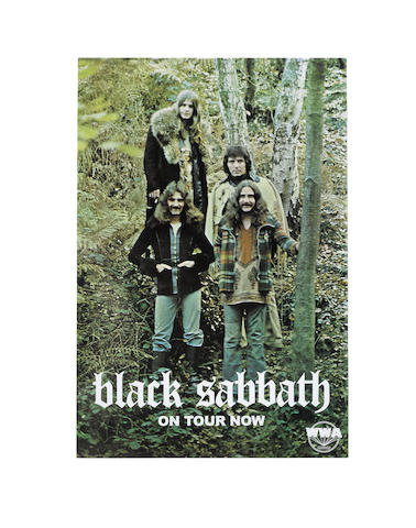 Black Sabbath: A scarce WWA Records promo poster