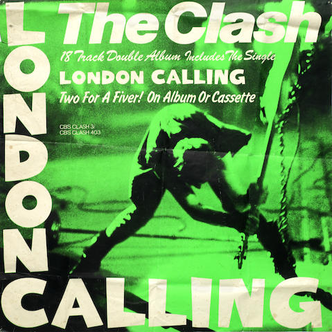 The Clash: A promotional poster for the album 'London Calling'