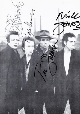 The Clash: An autographed booklet