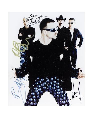 U2: a signed publicity photograph