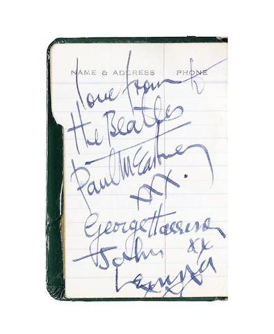 The Beatles: An autographed fan's address book