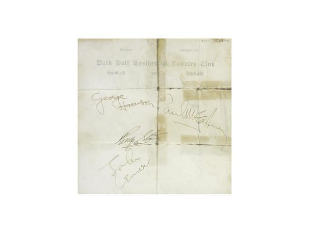 The Beatles: A set of autographs
