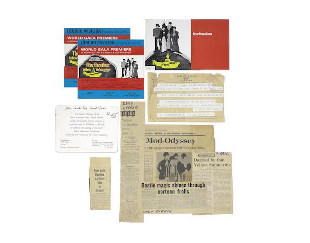 The Beatles: A rare group of 'Yellow Submarine' film ephemera