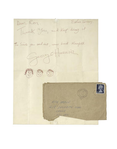 George Harrison: A letter sent to a fan