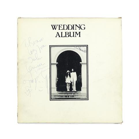 John Lennon/Yoko Ono: A Wedding Album box lid signed