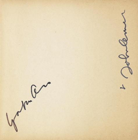 John Lennon and Yoko Ono: A signed copy of Grapefruit