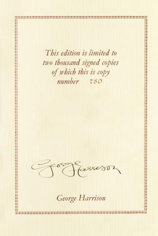George Harrison: a signed copy of I Me Mine