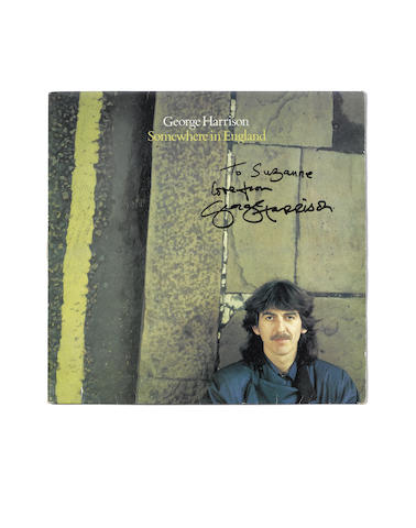 George Harrison: An autographed copy of the 1981 album 'Somewhere In England