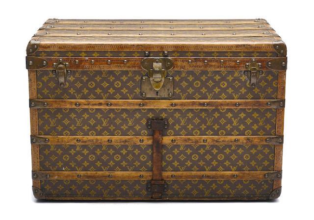 A Louis Vuitton steamer trunk