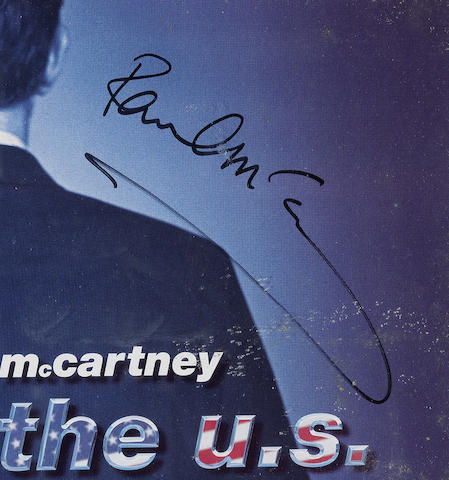 Paul McCartney: An autographed DVD display for the 2002 'Back In The U.S.' concert film