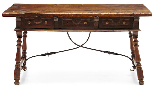 A Spanish Baroque walnut library table