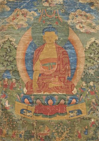 A thangka of Shakyamuni