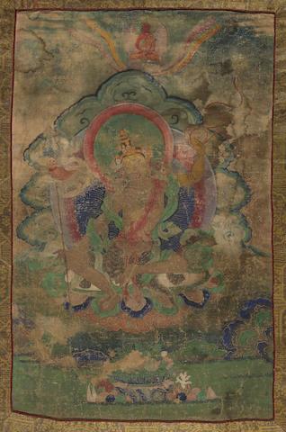 A thangka of a Padmasambhava Nyima Ozer