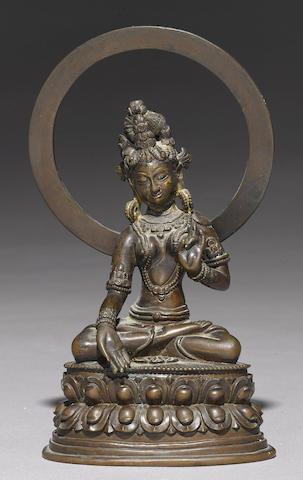 A copper alloy figure of Tara