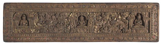 A wood Prajnaparamita manuscript cover