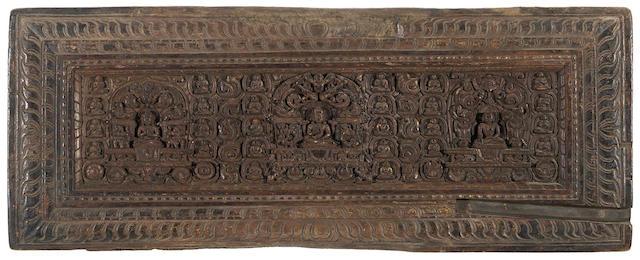 Two wood Prajnaparamita manuscript covers