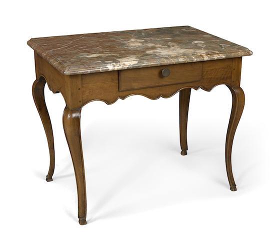 A Louis XV walnut side table