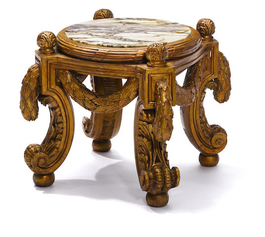 A Louis XV style carved giltwood jardinière stand possibly François Linke