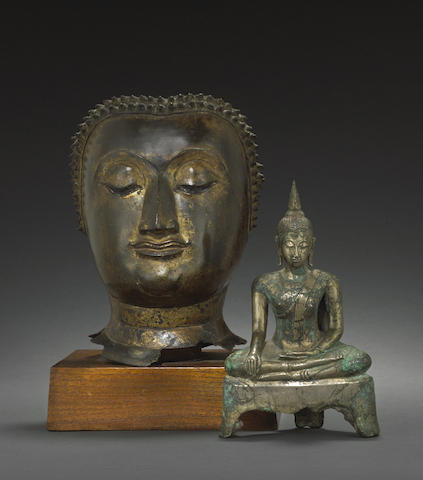 Two copper alloy Buddhist figures