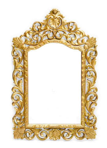 A Continental Baroque style giltwood mirror