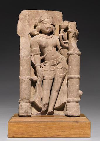 A sandstone stele of a celestial
