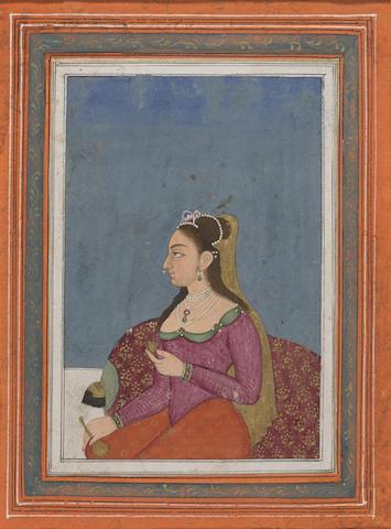 A portrait of an Eurasian noblewoman