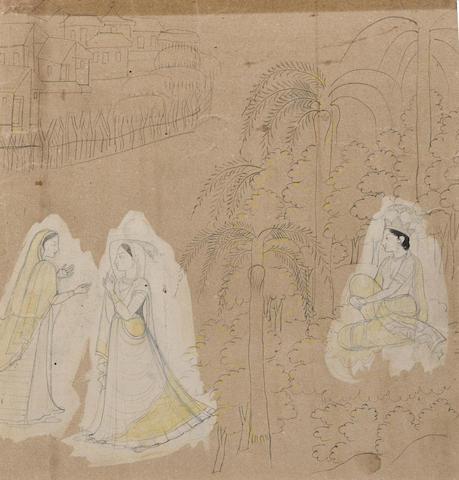 Two preparatory drawings