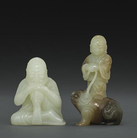 Two jade figural carvings
