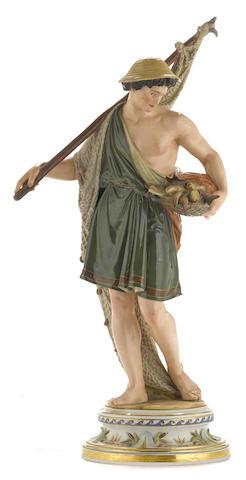 A Meissen porcelain figure of a fisherman