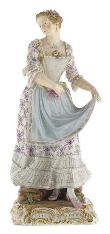 A Meissen porcelain figure of a dancer