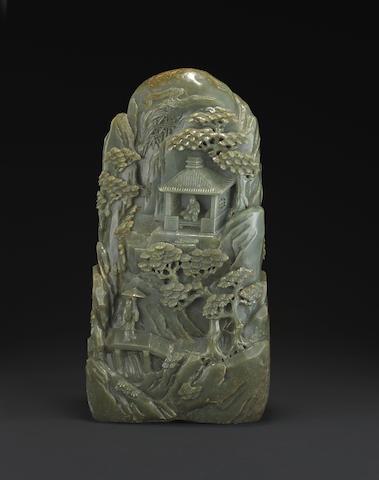 An impressive large spinach jade boulder