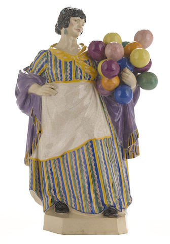 A Charles Vyse Pottery figure: The Balloon Woman