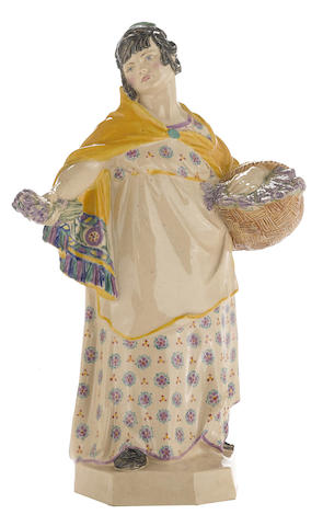 A Charles Vyse Pottery figure: The Lavender Girl