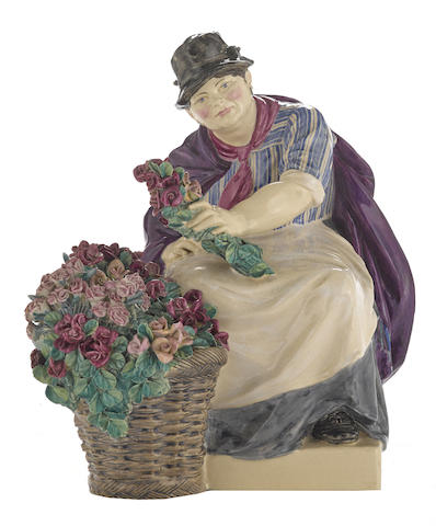 A Charles Vyse Pottery figure: The Piccadilly Rose Woman
