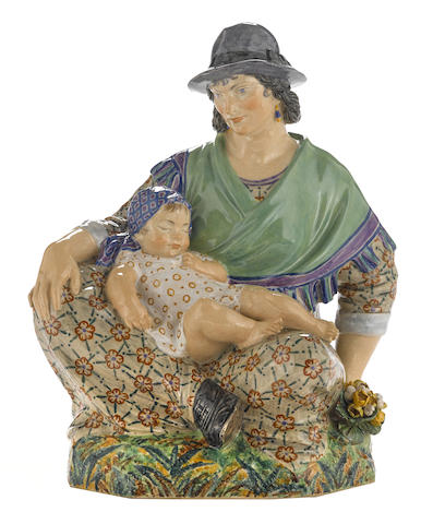 A Charles Vyse Pottery figure: Mid-Day Rest