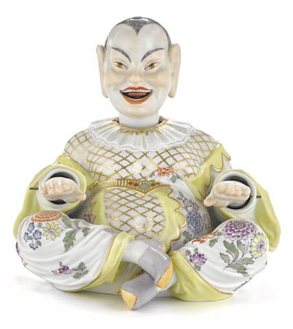 A Meissen porcelain nodding pagoda figure