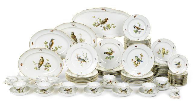 An assembled Meissen porcelain part dinner service