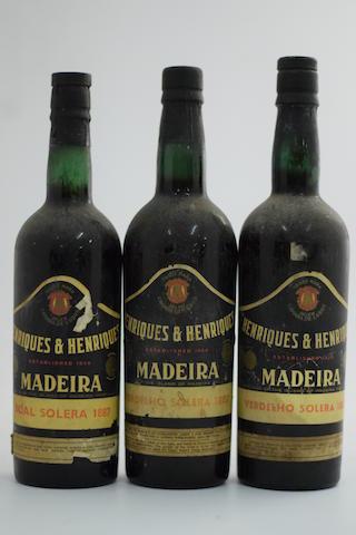 Henriques & Henriques Boal Solera 1887 (1); Henriques & Henriques Verdelho Solera 1887 (2)