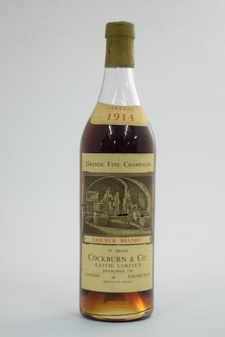 Grande Fine Champagne Liqueur Brandy 1914, Cockburn & Co, Leith (1)