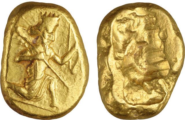 Achaemenid Empire, Lydia, Artaxerxes I to Darius III, AV Daric, 450-350 B.C., AU NGC