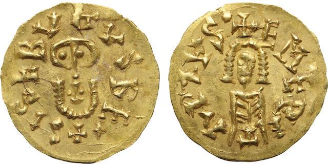 Spain, Visigoths, Sisebut, Gold Tremissis, 612-621 A.D.