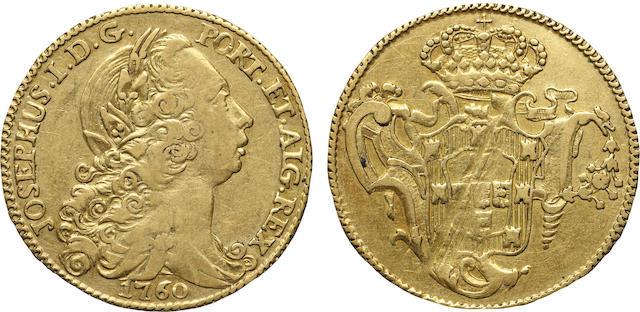 Portugal, Joseph I, Gold 6400 Reis (4 Escudos) 1760