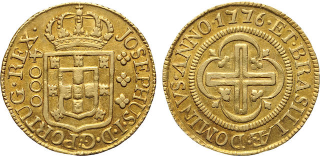 Brazil, Joseph I, Gold 4000 Reis, 1776 (L)