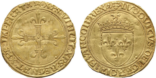 France, Louis XII (1498-1515), Ecu d'or au, Soleil, Undated